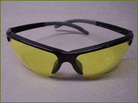 Pyrenees - Safety Glasses, Black Frame W/Amber Anti Fog Lens, Soft Tip