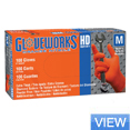 Gloveworks Heavy Duty Orange Nitrile Gloves